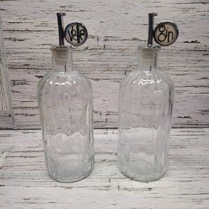 Rare Set of Vintage Glass Vodka and Gin Dispensers